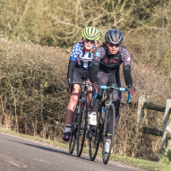 Hannah Nicklin racing for Les Filles